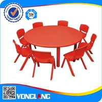 kindergarten kids classroom furniture/ writing table with chair for classroom