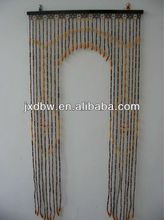 Arch Bamboo And Wood Beaded Door Curtain