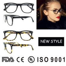 new arrival factory latest model spectacle frame strong spring hinge with metal parts eye glasses