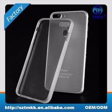 Custom mobile phone puch for iPhone 8 plus TPU Case 2mm back cover
