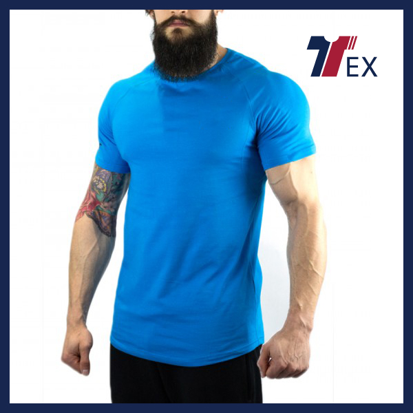 Custom men gym clothes plain blank 100 cotton gymwear t shirt online shopping