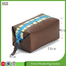 Dual Side Use Nice Nylon Women Cosmetic Toiletry Clutch Makeup Bags Case