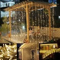 Fairy led waterfull curtain lights for indoor outdoor decoration