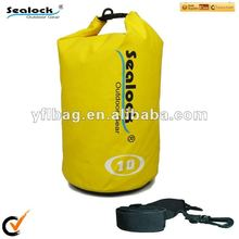 2014 10 L High quality yellow dry bag for boat