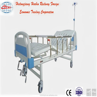 Cheap manual two-handle folding medical bed factory price