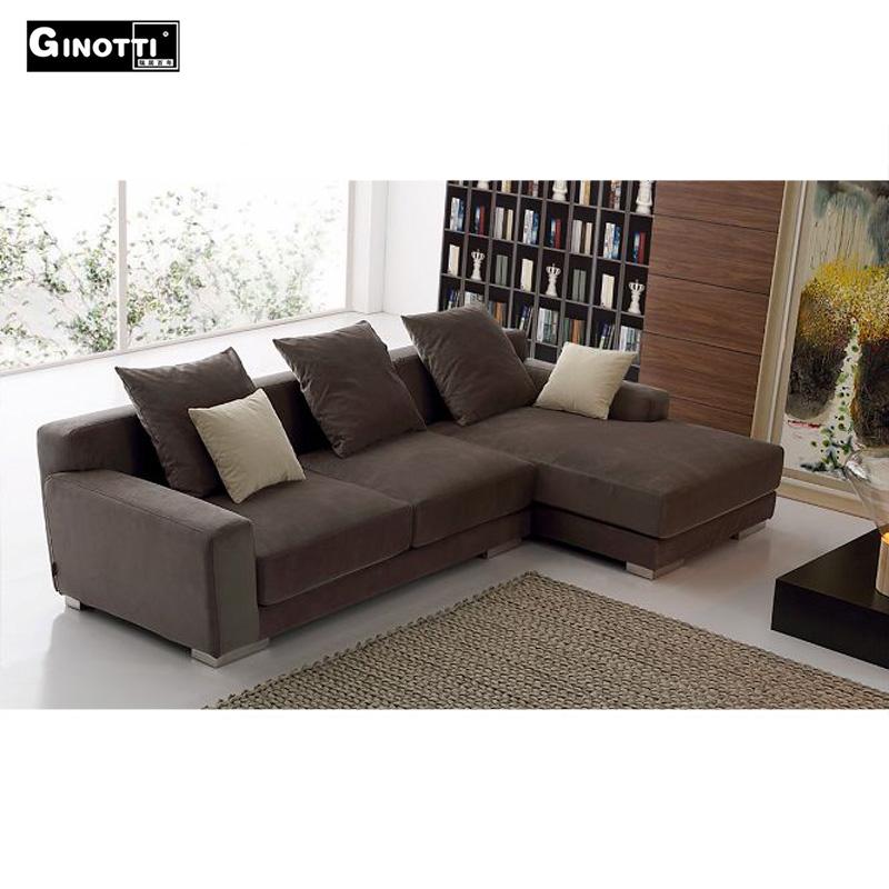 Nuevo dise o italiano en forma de l sof de la tela sof s for Sofas de diseno italiano