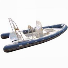 Hot Sale Hypalon military RIB fiberglass inflatable boat with outboard engine