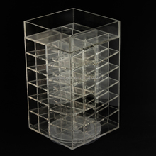 USA/UK Hot-Selling Custom Rotating Acrylic Lipstick Holder 48 Slots Spinning Clear Lip Balm Display Stand Wholesale