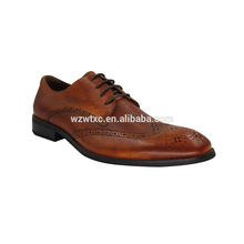 Latest black and brown men casual leather dress shoes