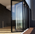 High quality interior double glazed alumiunm bifold doors