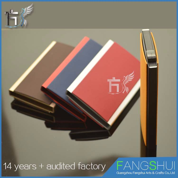 Top quality online wholesale rfid genuine leather luxury trading card case