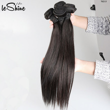 Cheap 100% Authentic Virgin Human Hair Weft Unprocessed Leshine Natural Weaving 8-32 inches Straight Brazilian Hair