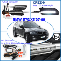 Hot selling auto parts High Power led drl LED Daytime Running Lights driving lamp For BMW E70 X5 07-09 (Pre-LCI)