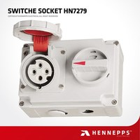 Hennepps 4P 16A Three Phase MK IP66 Waterproof Switched Sockets
