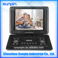 14-inch Large Screen Portable DVD Player with TV FM Radio