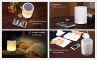 Smart Touch LED Mood Lamp, Hands-Free Speakerphone,Fuleadture Portable Bluetooth Speaker