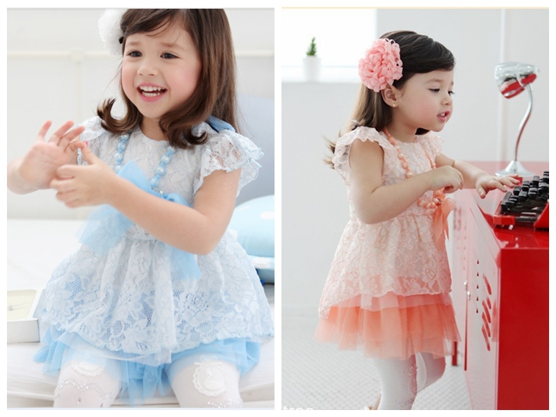 Lace Kids Fashion Cocktail Dress For Children