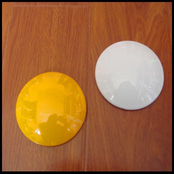Hot sales 4inch white/yellow cat eye ceramic road stud round reflector