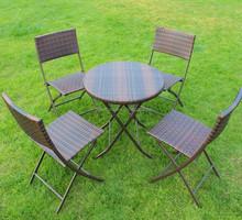 Folding furniture/chair/round/square/table/PE rattan/wicker woven outdoor leisure