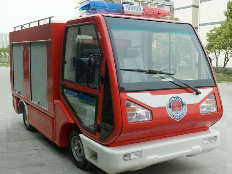 battery powered fire fighting vehicle EG6030F(72V/5KW), mini electric fire truck