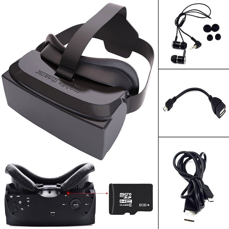 Andance VR Mobile Phone 3D Movies 8GB Rom 3D Camera Glasses Enhance Virtual Reality with TF Card or USB 1080P Full Format Video