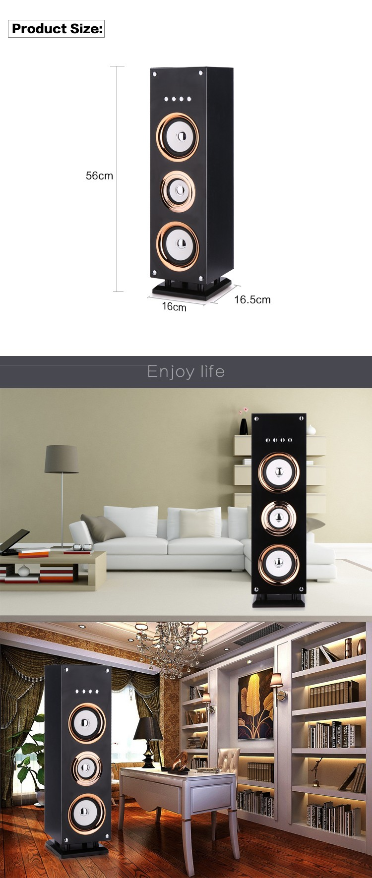 Hot selling home karaoke bluetooth tower speakers