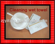 Lemon Scent Cleaning Wet Towel For Restaurant