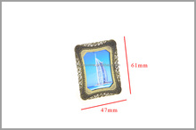 Mini metal photo frame Burj Al Arab design with stand for souvenir, decoration photo frame