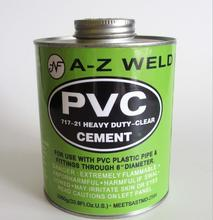 clear pvc plastic solvent pipe glue cement for water treatment or plumbing system