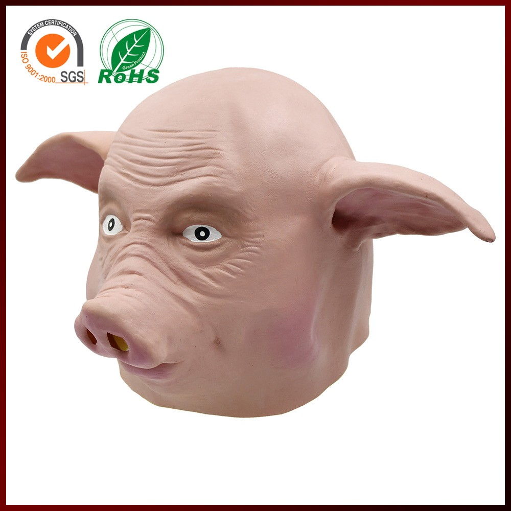 funnyy ugly rubber halloween pig face mask