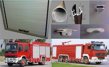 Fire truck rear roll up shutter door