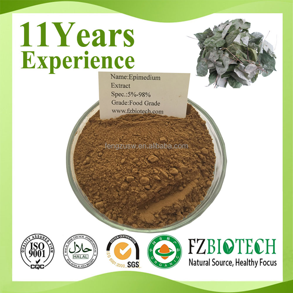 free sample 10% epimedium leaf extract, buy epimedium plant extract Icariin 10%