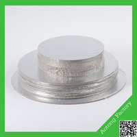 Wholesale silver round wood cake drum for bakery