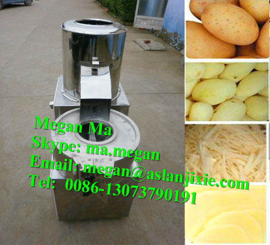 hot sale cheap all-in-one potato washing peeling cutting machine/potato peeling and cutting machine