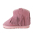 8319 Fur lining leather tassel kids winter boots