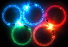LED Steady Glowing Light Up Rave Party Fashion Bracelets Bangles Wristband Favor