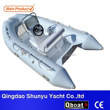 CE most popular remote console hypalon China rib boat with 20hp engine