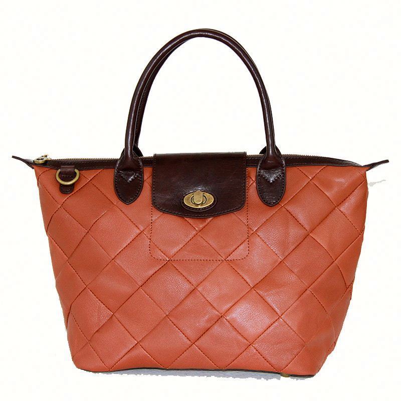 China Supplier Western Style Free Custom LOGO Genuine Leather fashion hand bags handbags made in korea