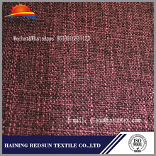 100% polyester linen look fabric for upholstery sofas