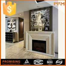 Marble Sculpture fujian gas fire surrounds marble white fireplace mantel