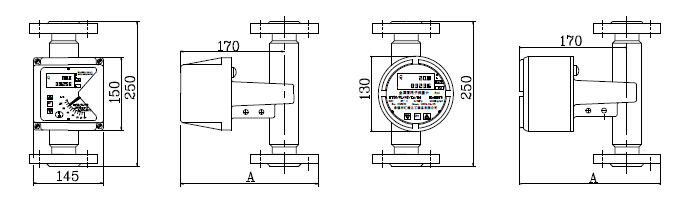 Metal tube variable area rotor flowmeter