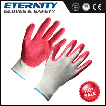 Hard working latex rubber hand glove for industrial