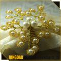 oem quality wedding decoration pearl napkin ring
