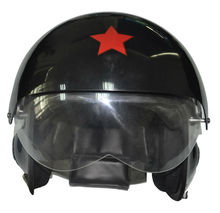 Black Pilot Helmet/Airforce Helmet/Open Face Helmet