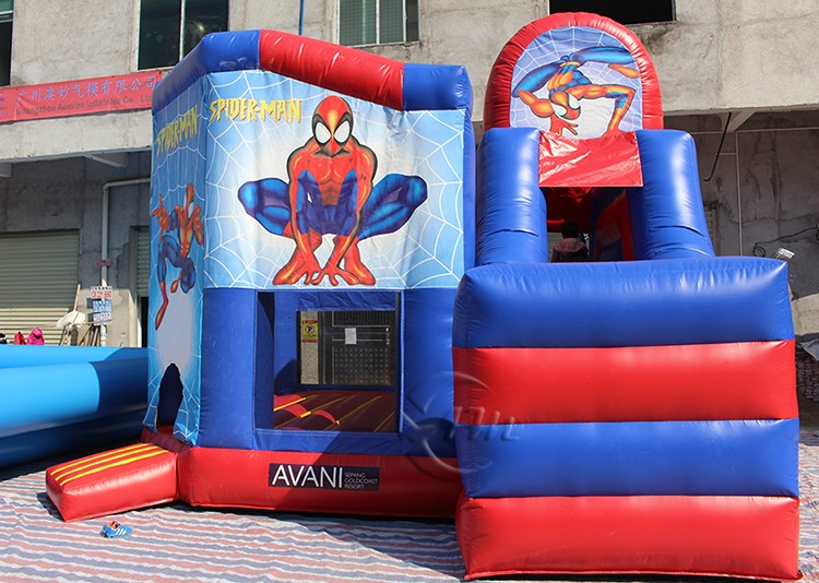 Hot sale commercial cheap inflatable bouncer,jumping bouncy castle with slide
