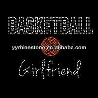Basketball Girlfriend Rhinestone Iron On T-shirt Transfer