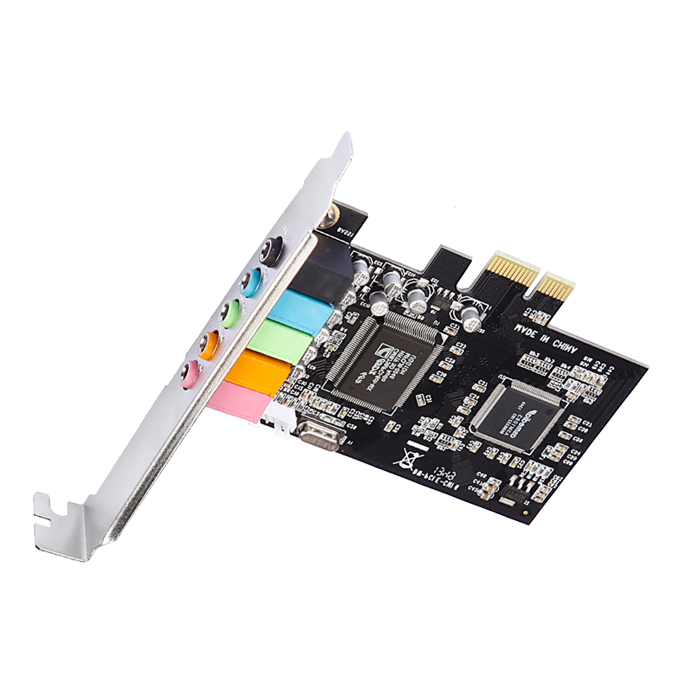 Support high-performance PCIE 6-channel audio sound card