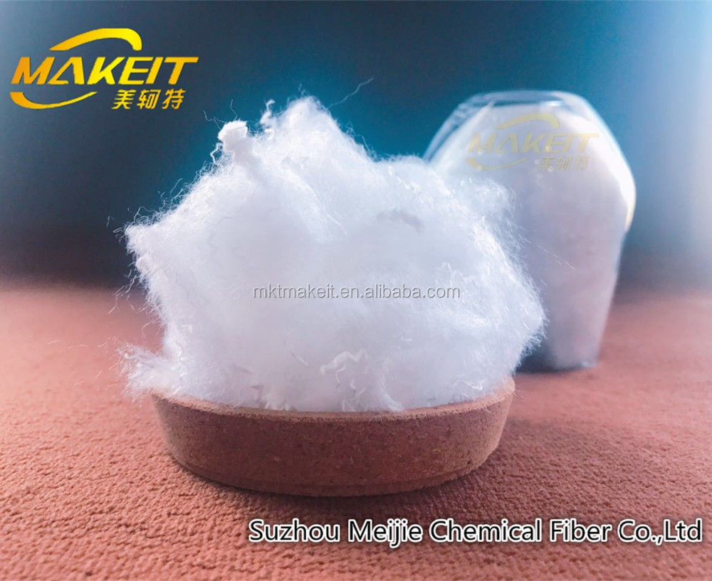 hollow conjugated siliconized polyester staple fiber