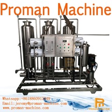Electric Industrial Water Treatment Equipment 0.75KW 1T ~3 0T PLC Control for 1000L / h industry water plant