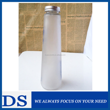 Frosted glass beverage bottle wholesale 350ml, empty glass juice bottles